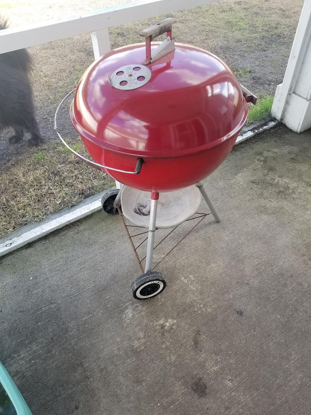 Vintage Red Weber Kettle  K code 1988