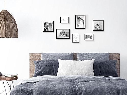 סט הדפסים שחור לבן בעיצוב אישי