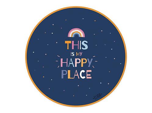 שטיח פיויסי עגול happy place