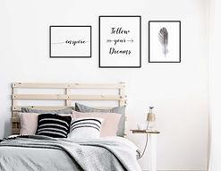 Set-3-frames-Lomviken-black-girl-room-qu