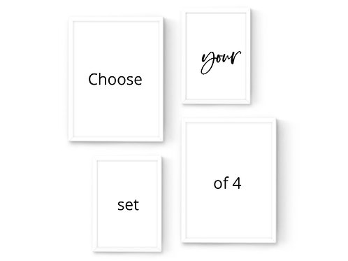 סט 4 הדפסים בשני גדלים להרכבה עצמית