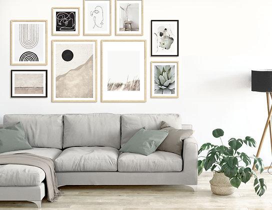 9 הדפסים ניוד לקיר גלריה