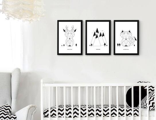 3 הדפסים חיות אוריגמי