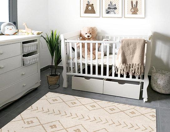 שטיח פיויסי מרובע ברבר שמנת חום