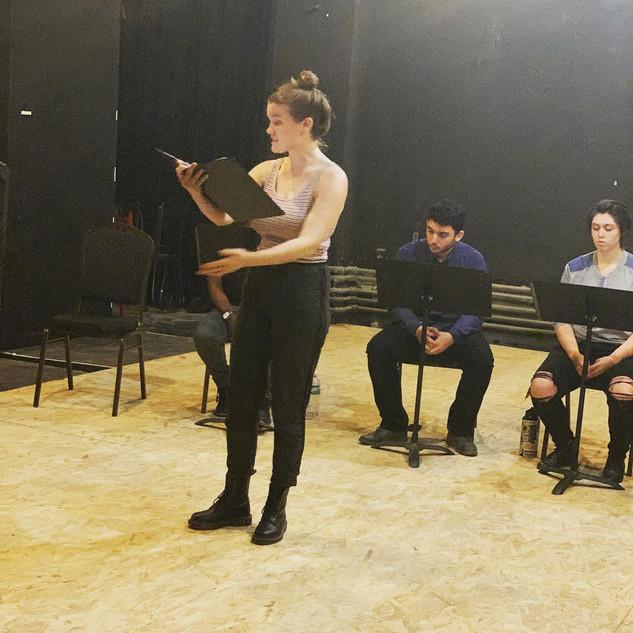 Cyrano Rehearsal @ Normal Ave Theatre