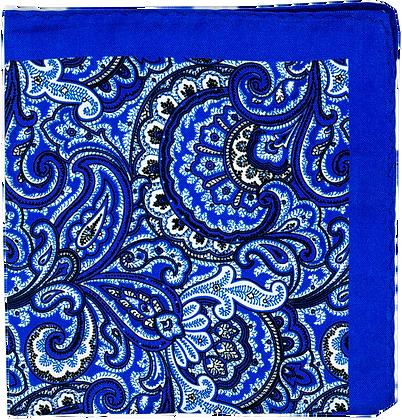 POCHETTE EN SOIE BLUE DANDY
