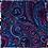 Thumbnail: POCHETTE EN SOIE PINK &  BLUE DANDY