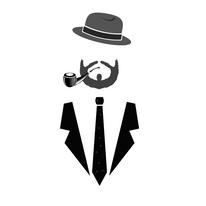 ilustration d'un dandy en cravate
