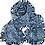 Thumbnail: FOULARD EN SOIE BLUE FLOWERY