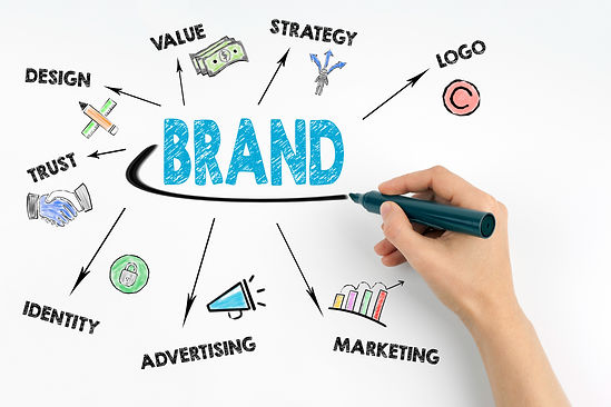 Hand with marker writing - Brand concept