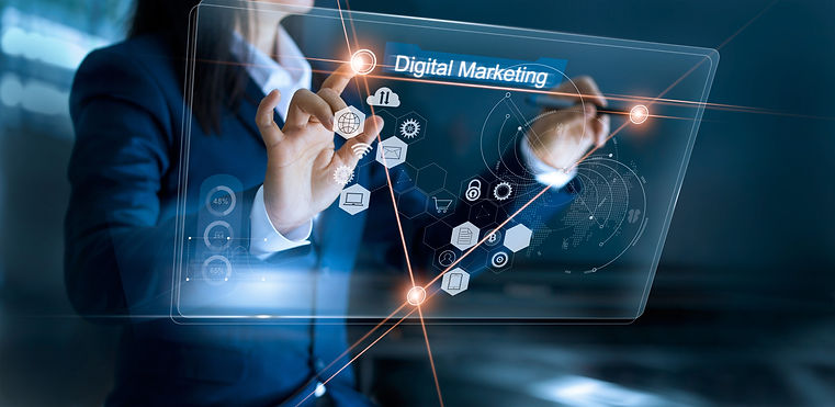 Digital marketing. Business using and dr