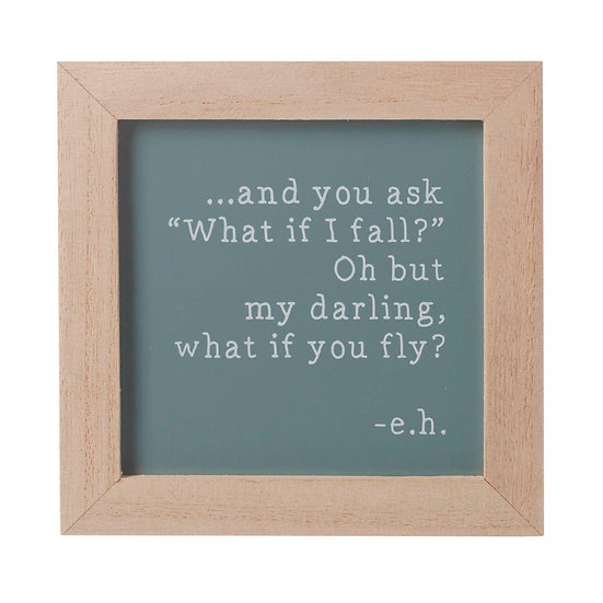 My Darling What If You Fly? - Wooden Sign