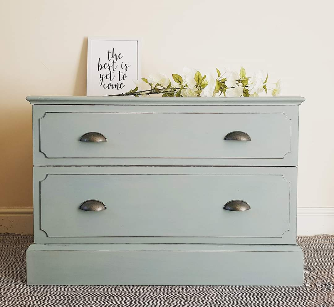 Duck Egg Blue Low Sideboard