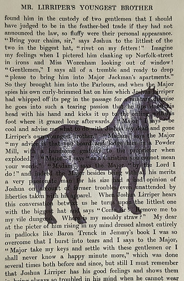 Horse - Vintage Book Page - Art Print - 4 x 6 Inch