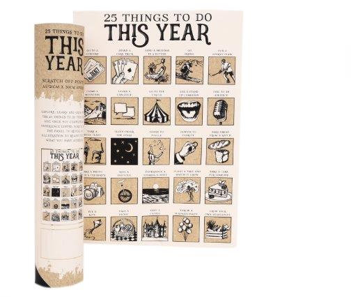 25 Things To Do This Year - Scratch Poster - A4