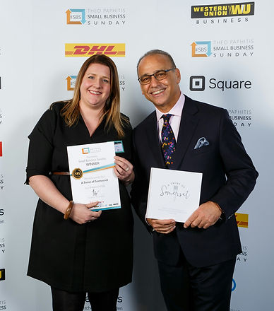 Lisa White - A Twist of Somerset Meets Dragons Dens Theo Paphitis
