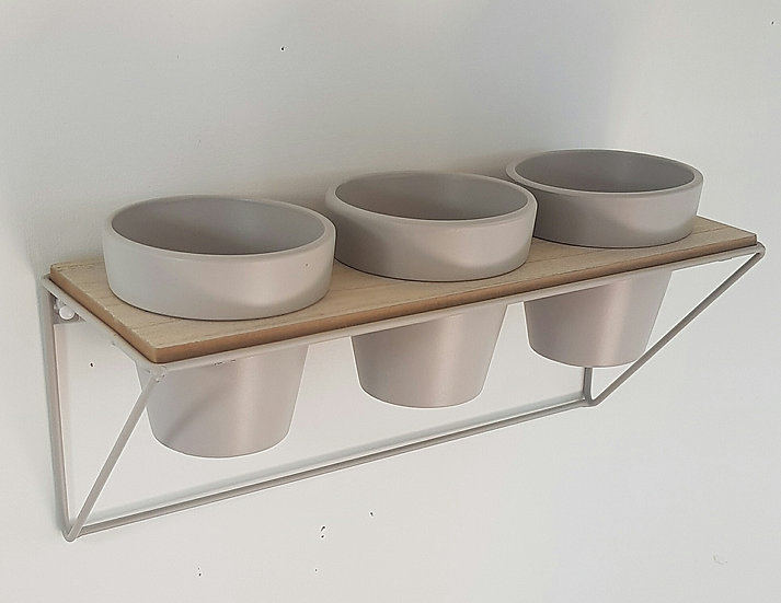 Triple Wall Planter - Grey