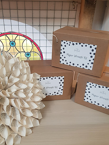 Adult Craft Set - Dahlia Paper Wreath Kit
