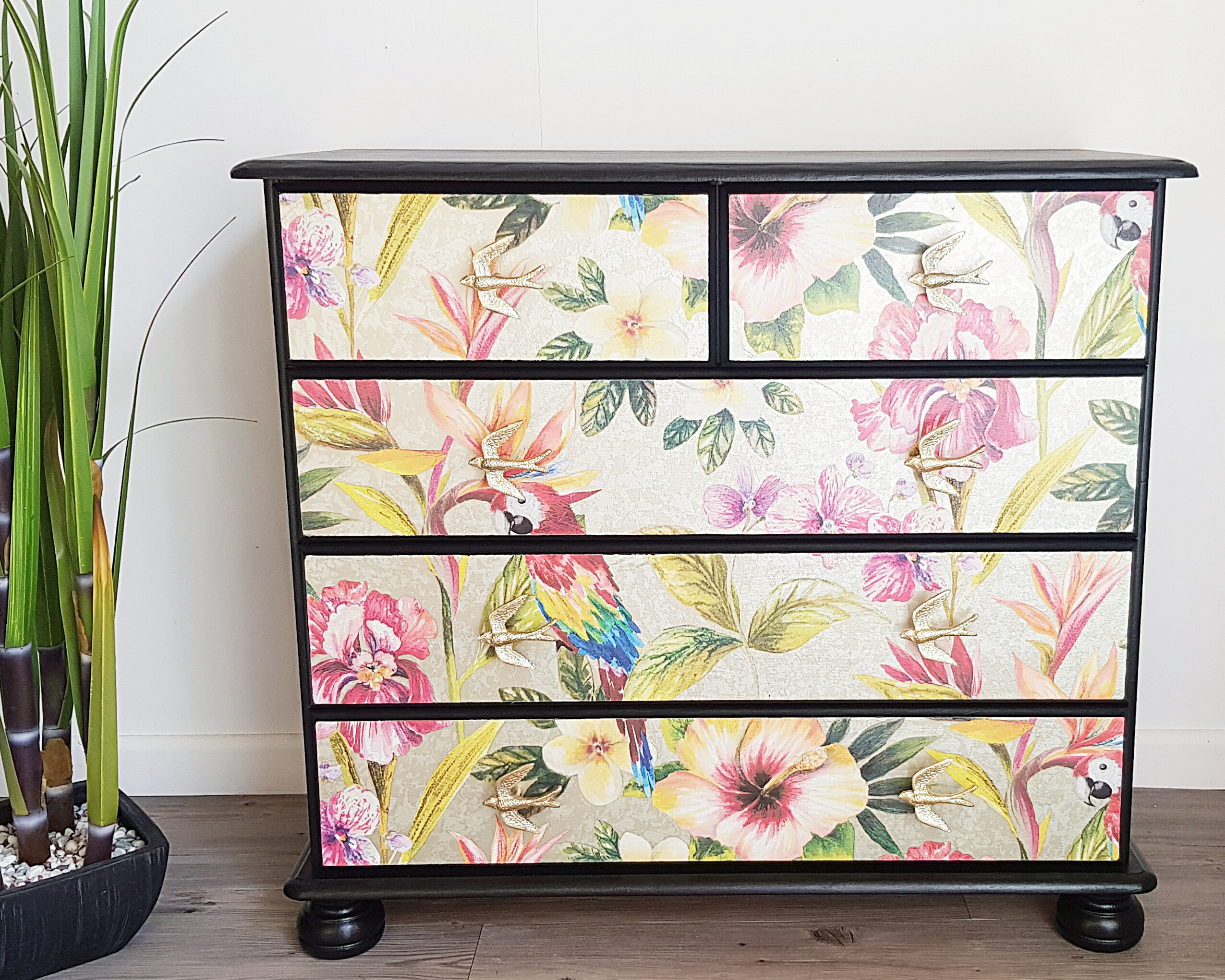 Tropical Print Chest of Drawers.jpg