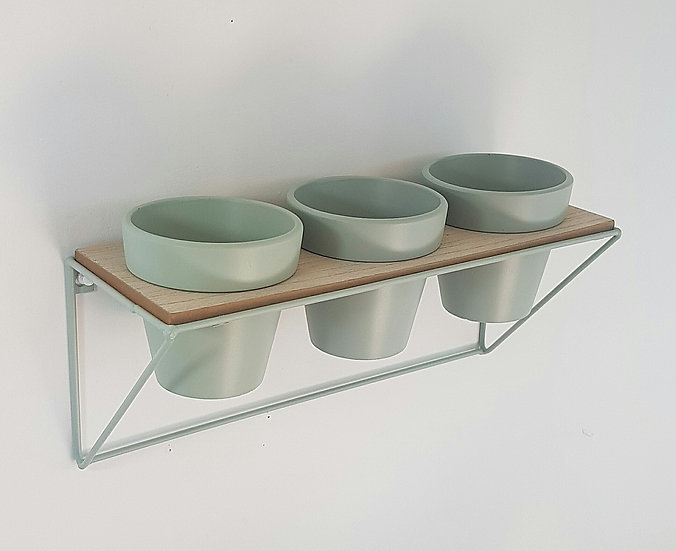 Triple Wall Planter - Sage Green
