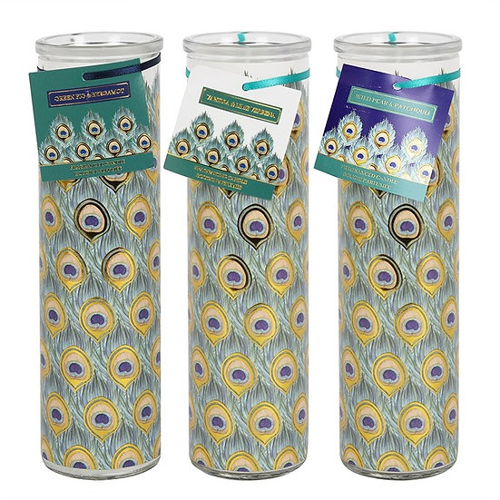 Peacock Tube Candle