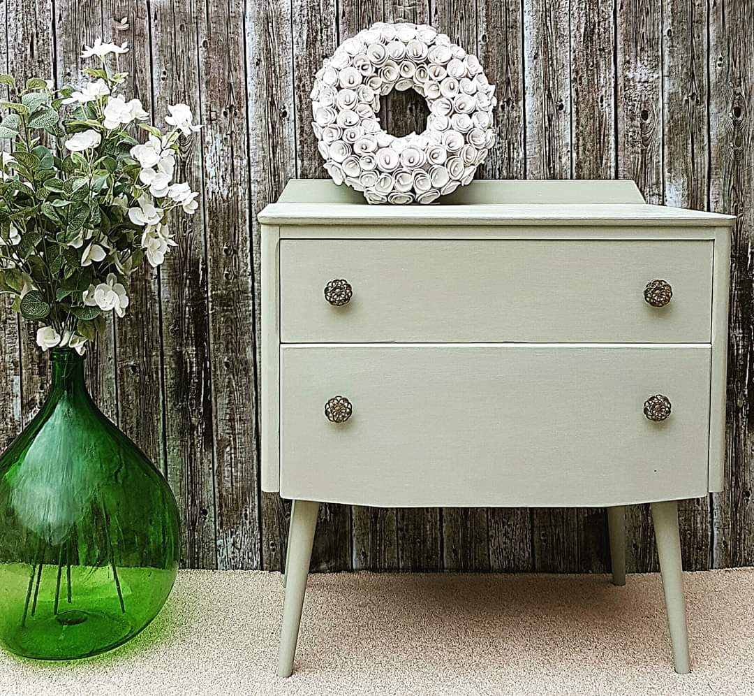 Sage Green Mid Century Chest of Drawers