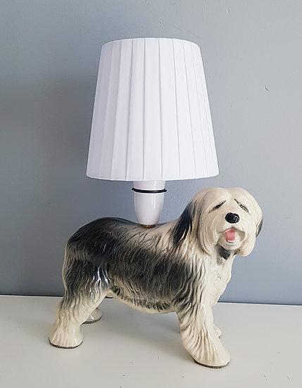 Old English Sheepdog Table Lamp
