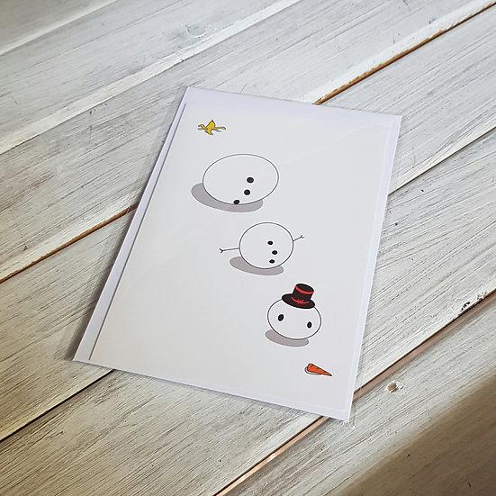 Snowman - Hand Designed Christmas Card