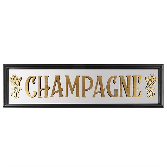 Art Deco Styled Champagne Wall Mirror