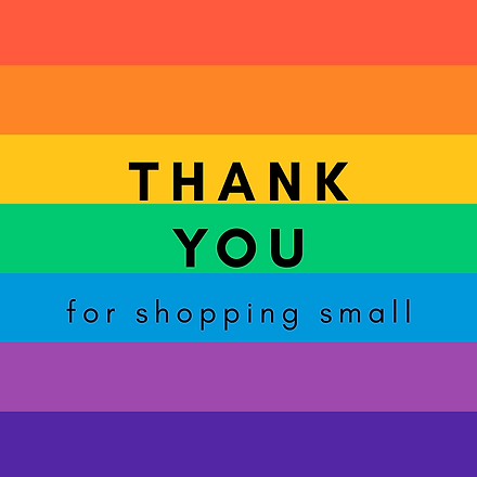 thank you for shopping small