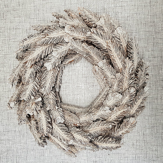 Wooden Feather Christmas Wreath
