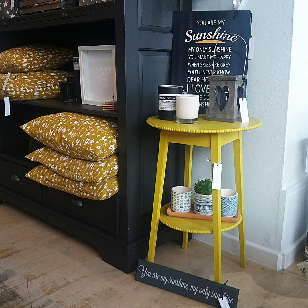Sunshine Yellow Side Table