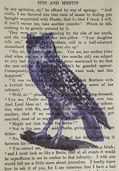 Owl - Vintage Book Page - Art Print - 4 x 6 Inch