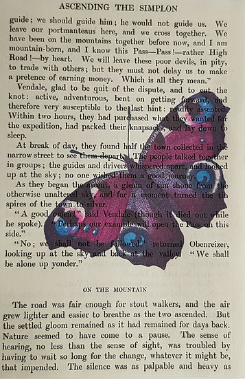 Butterfly - Vintage Book Page - Art Print - 4 x 6 Inch
