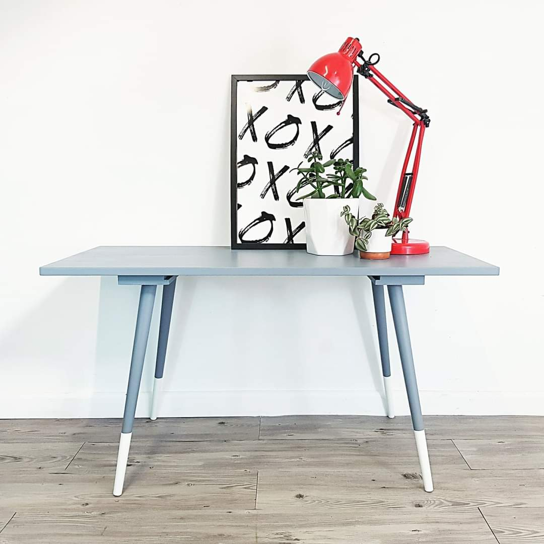 Retro Grey and White Dipped Coffee Table