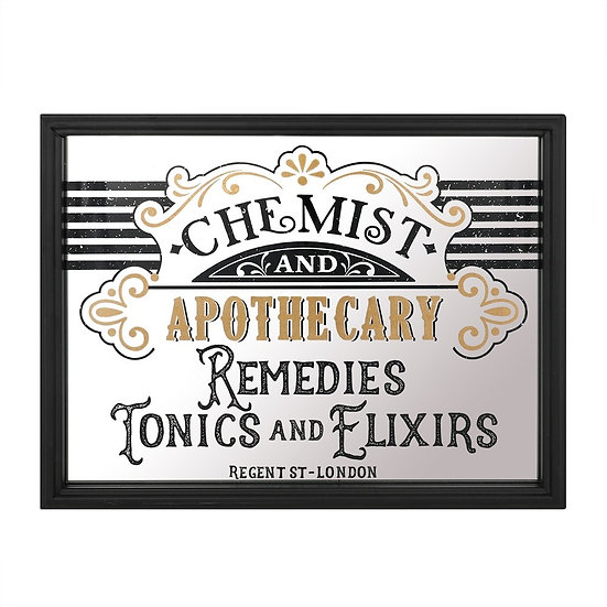 Chemist and Apothecary Wall Mirror