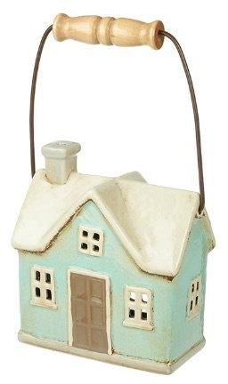 Ceramic Cottage - T Light Lantern with Handle
