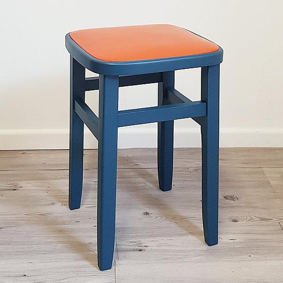 1960's Stool | Blue & Orange