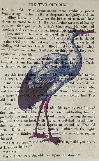 Heron - Vintage Book Page - Art Print - 4 x 6 Inch