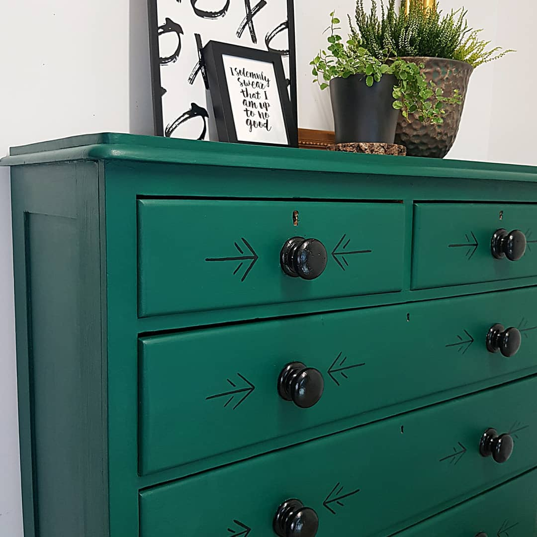 Folksy Green & Black Chest of Drawers.jp