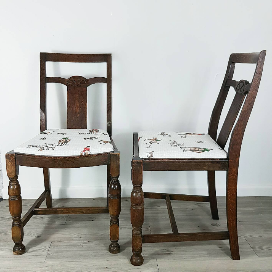 Pair of Horse and Hound Chairs