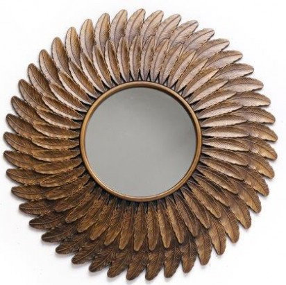 Decorative Feather Wall Mirror