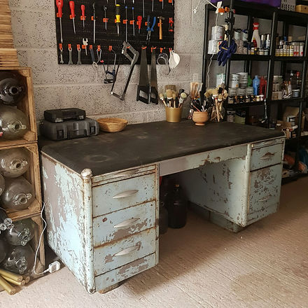 upcycler workshop - industrial tanker desk