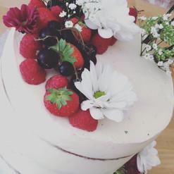 Fruits rouges Flower cake