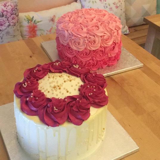 Rose cake et top rose cake