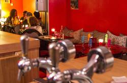 La banquette du Melo Restaurant