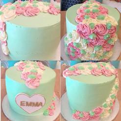 Side rose cake
