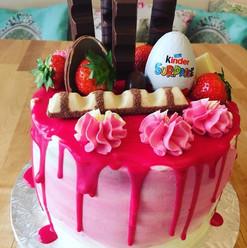 Pink Kinder cake