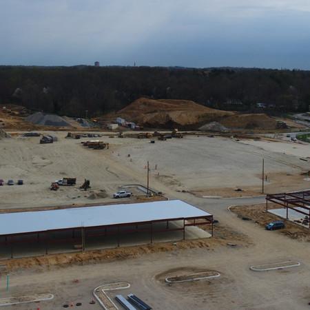 Aerial of Barley Mill Retail - April 2020