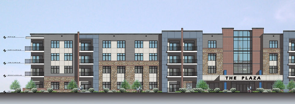 Rendering of Multi Family Units at Barley Mill